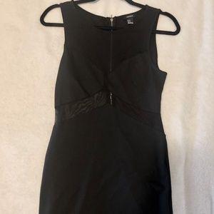 Little Black Dress with Mesh Cutouts - Size M